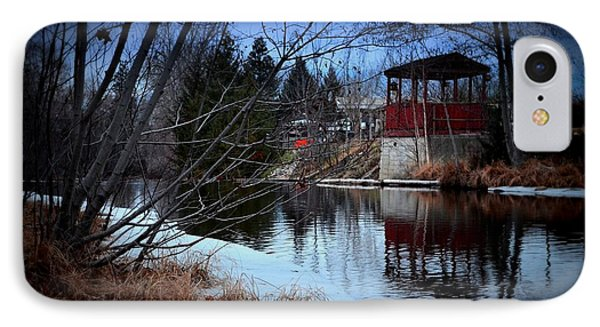 Gazebo By The Creek 01 IPhone Case