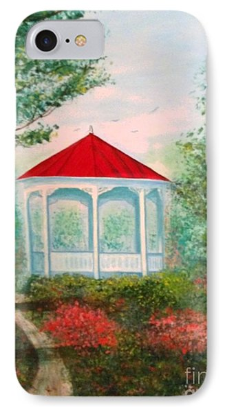 Gazebo Dream IPhone Case by Becky Lupe