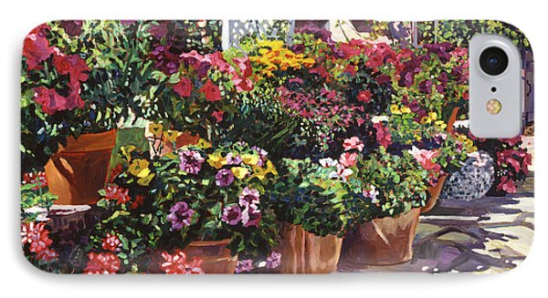 Gazebo Garden IPhone Case by David Lloyd Glover