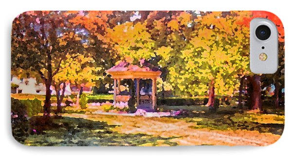 Gazebo On A Autumn Day Phone Case by Thomas Woolworth