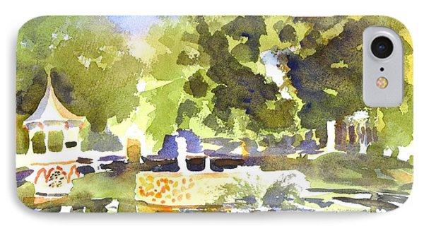 Gazebo With Pond And Fountain II Phone Case by Kip DeVore