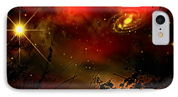 Gazing The Galaxy IPhone Case by Persephone Artworks