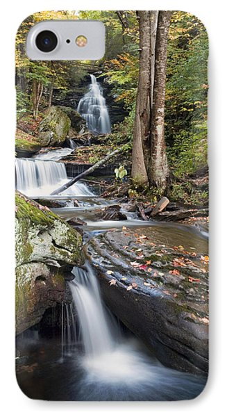 IPhone Case featuring the photograph Gazing Up At Ozone Falls In Autumn by Gene Walls