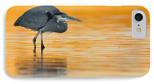 IPhone Case featuring the photograph Gbh In Orange Water by Bryan Keil