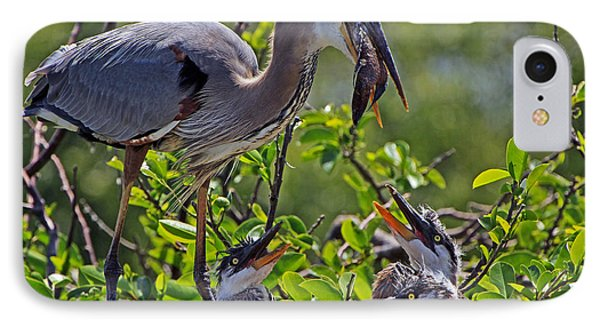 Great Blue Heron Lunch Alfresco IPhone Case