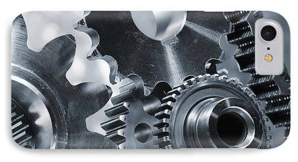 Gears Cogs And Chains IPhone Case by Christian Lagereek