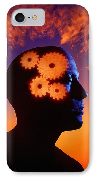 Gears Going In The Mind Phone Case by Don Hammond