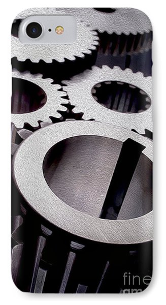 Gears IPhone Case by Jon Neidert