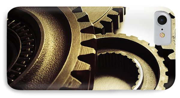 Gears IPhone Case by Les Cunliffe