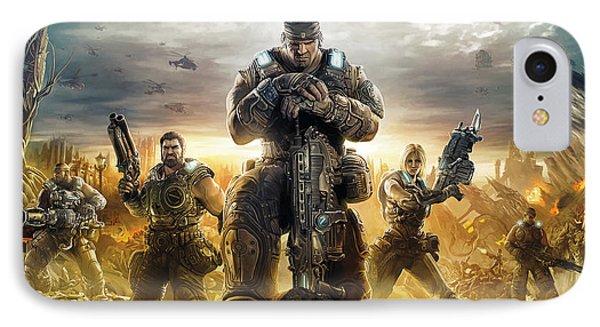 Gears Of War Artwork IPhone Case by Sheraz A