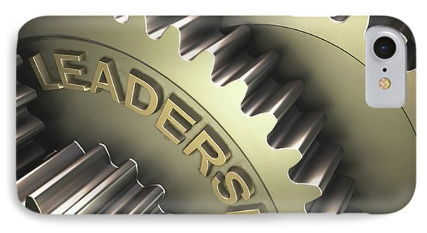 Gears With The Word 'leadership' IPhone Case by Ktsdesign