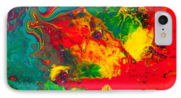Gecko - Colorful Abstract Painting IPhone Case by Modern Art Prints