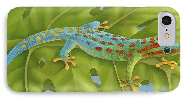 Gecko IPhone Case by Laura Regan
