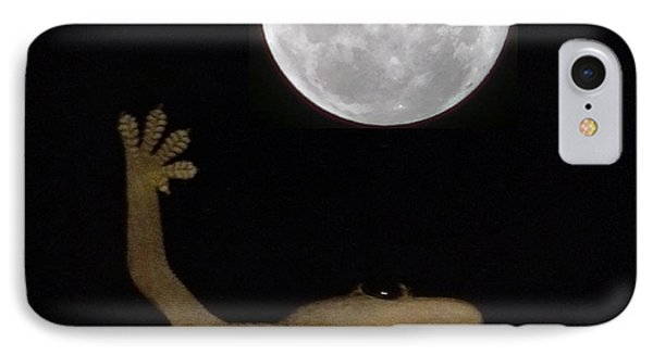 Gecko Moon IPhone Case by Cameron Bentley