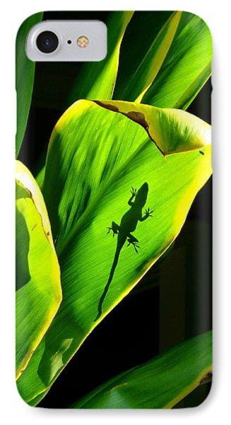 Gecko On A Leaf IPhone Case by Lori Seaman