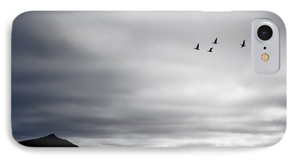Geese Flying South For Winter IPhone Case by Peta Thames