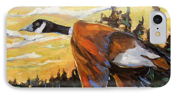 Geese In Flight IPhone Case by Richard T Pranke