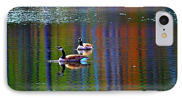 IPhone Case featuring the photograph Geese On The Lake by Tara Potts