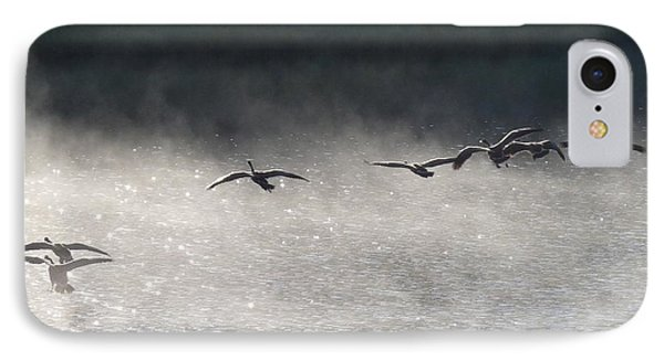 Geese Over Burgess Lake IPhone Case