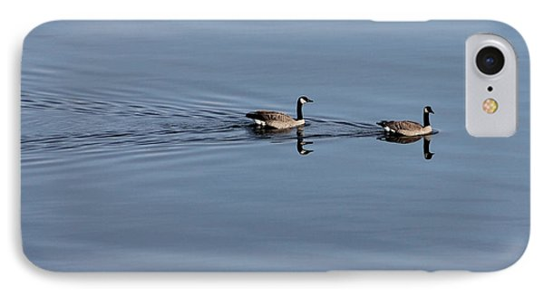 Geese Reflected IPhone Case by Leone Lund