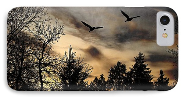 IPhone Case featuring the photograph Geese Silhouette by Marjorie Imbeau