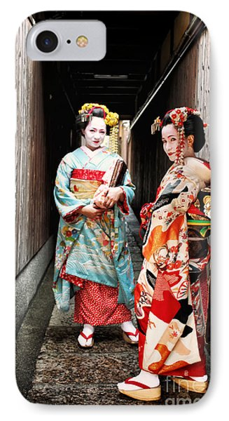 IPhone Case featuring the photograph Geisha Alley by John Swartz