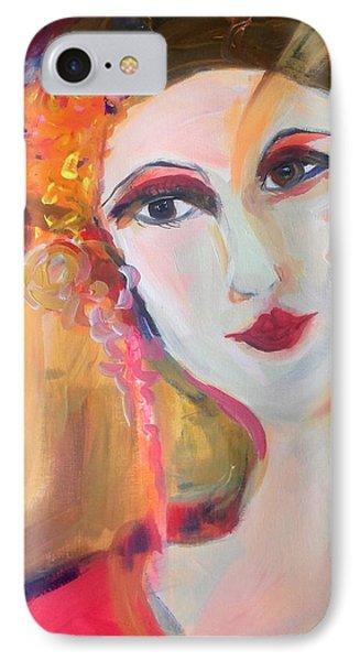 Geisha By The Lantern  IPhone Case by Judith Desrosiers