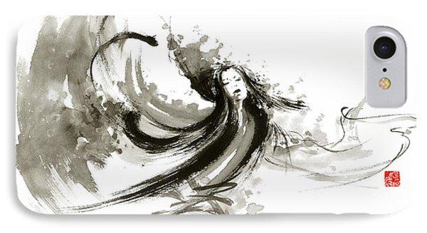 Geisha Dancer Dancing Girl Japanese Woman Original Painting IPhone Case by Mariusz Szmerdt