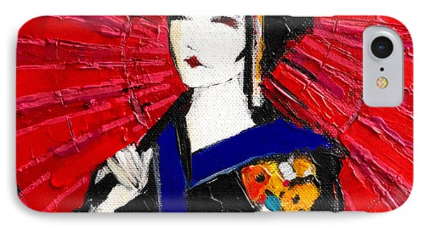 Geisha Phone Case by Mona Edulesco