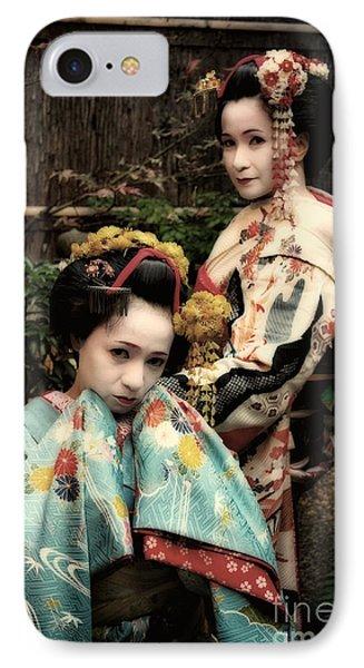 Geisha Garden IPhone Case by John Swartz
