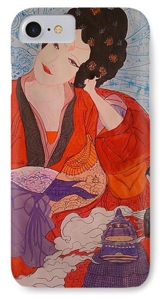 IPhone Case featuring the painting Geisha Girl by Judi Goodwin