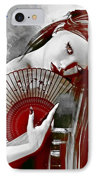 Geisha Red IPhone Case by Shanina Conway