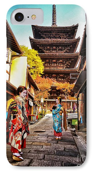 IPhone Case featuring the photograph Geisha Temple by John Swartz