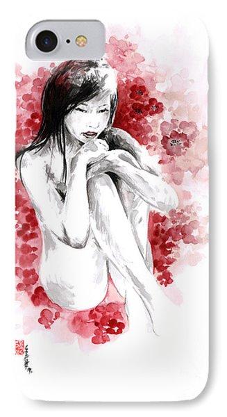 Sakura - Japanese Woman. IPhone Case by Mariusz Szmerdt