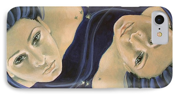 Gemini From Zodiac Series IPhone Case by Dorina  Costras