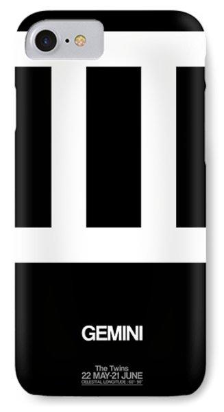 Gemini Zodiac Sign White IPhone Case by Naxart Studio