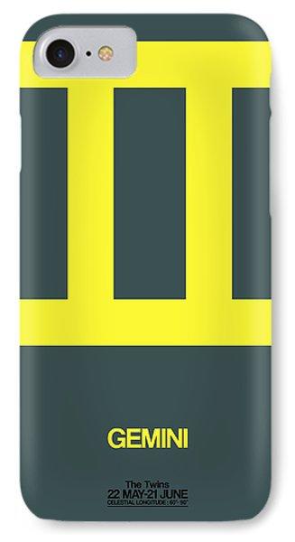Gemini Zodiac Sign Yellow IPhone Case by Naxart Studio