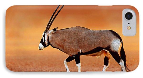 Gemsbok On Desert Plains At Sunset Phone Case by Johan Swanepoel
