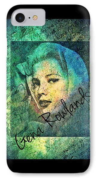 IPhone Case featuring the digital art Gena Rowlands by Absinthe Art By Michelle LeAnn Scott