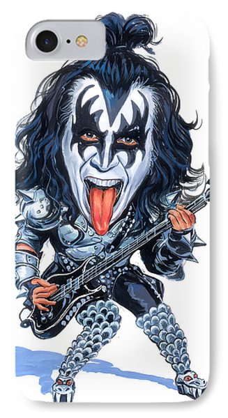 Gene Simmons IPhone Case by Art