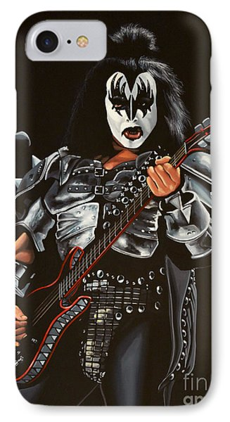 Gene Simmons Of Kiss Phone Case by Paul Meijering