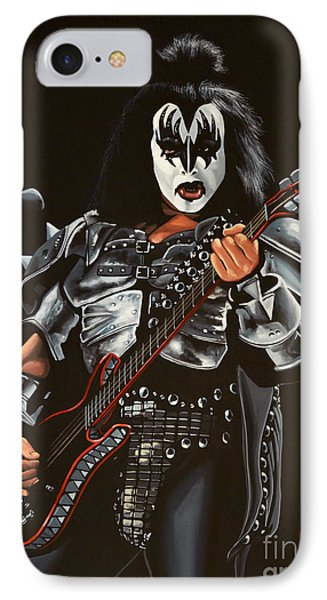 Gene Simmons Of Kiss IPhone Case by Paul Meijering
