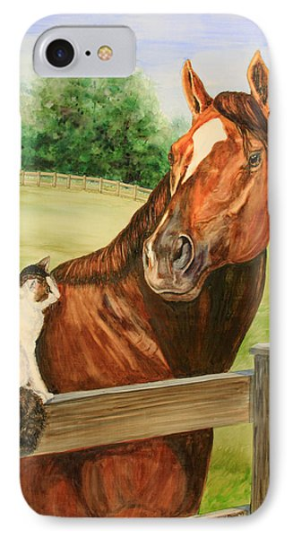 General Charlie And Whirlaway The Cat Portrait Phone Case by Kristine Plum