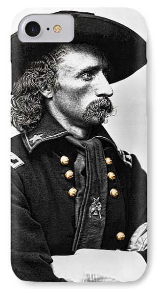 General George Armstrong Custer  Phone Case by Daniel Hagerman
