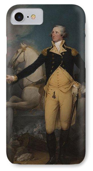 General George Washington At Trenton, 1792 IPhone Case by John Trumbull