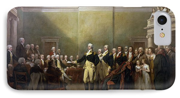General George Washington Resigning His Commission IPhone Case by John Trumbull