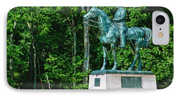 General John Sedgewick Gettysburg Battleground IPhone Case by Bob and Nadine Johnston