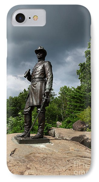 General K Warren Monument Gettysburg Phone Case by James Brunker