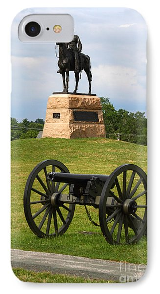 General Meade Monument And Cannon Phone Case by James Brunker