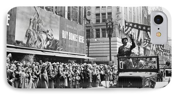 General Patton Ticker Tape Parade Phone Case by War Is Hell Store